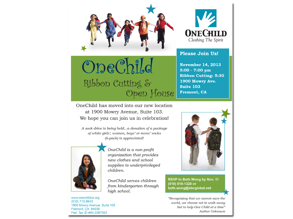 OneChild Invitation