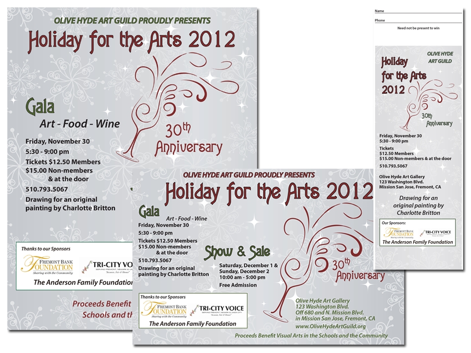 Olive Hyde Art Guild Holiday Show & Sale Poster & Postcard