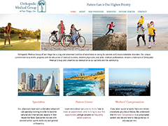 Orthopedic Medical Group of San Diego website